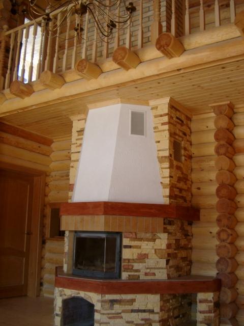 Ра-сервис - Проект дома, дом из оцилиндрованного бревна.
